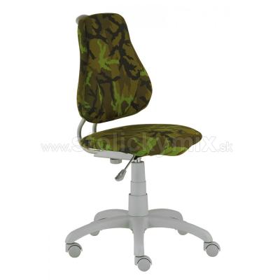 a5ac6c55e574 Detská rastúca otočná stolička FUXO ARMY